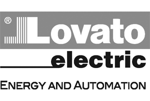 Lovato electric automation greyscale logo
