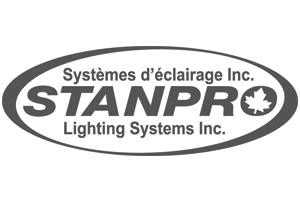 stanpro lighting controls logo greyscale