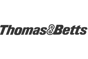 Thomas & Betts greyscale logo