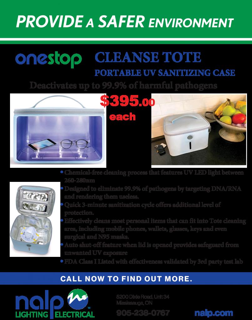 Portable UV sanitation case