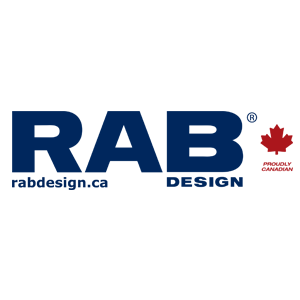 RAB lighting design colour logo